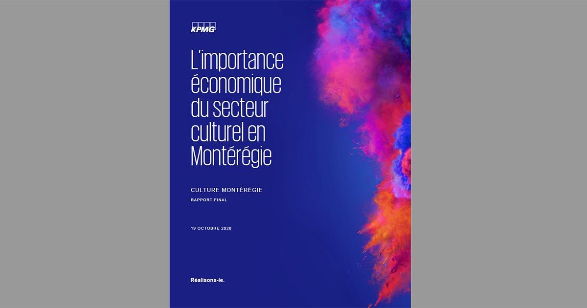 Importance économique du secteur culturel en Montérégie